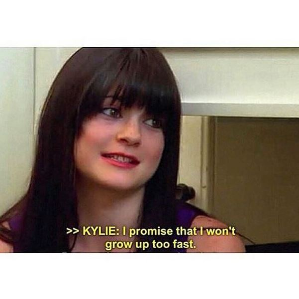 The youngest Jenner sister recently posted this scene from 'KUWTK' on Instagram.