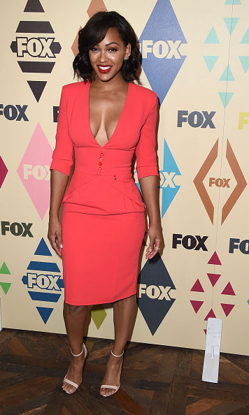 Aug 6: Meagan Good looked radiant in red during the TCA  press tour All-Star party. 
