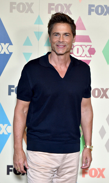 Aug 6: Rob Lowe was all smiles at the TCA press tour All-Star party. 