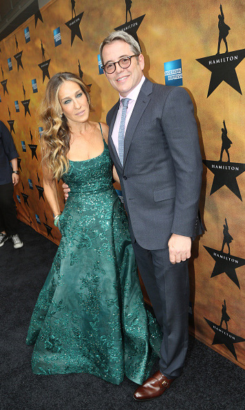 Aug 6: Sarah Jessica Parker and husband Matthew Broderick were a well-dressed pair at opening night of 'Hamilton' in New York City. 