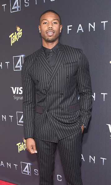 Aug 4: Michael B. Jordan looked dapper during the premiere of 'The Fantastic 4' in New York City. 