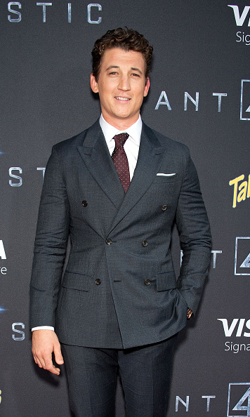 Aug 4: Miles Teller flashed a smile during the premiere of 'The Fantastic 4' in New York City.
