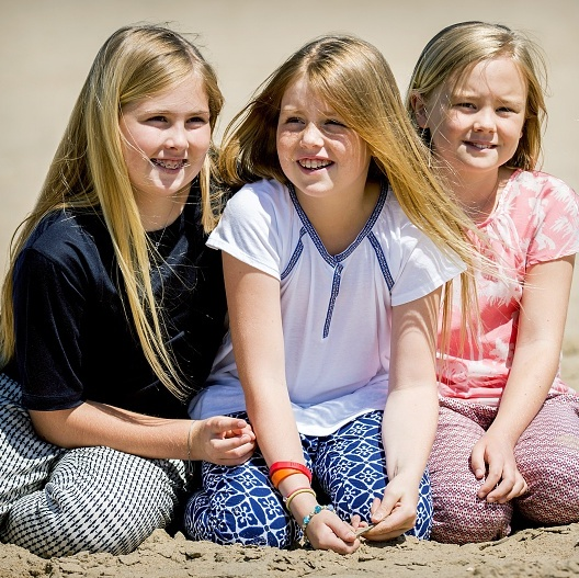 Princesses Amalia, Alexia and Ariane of the Netherlands