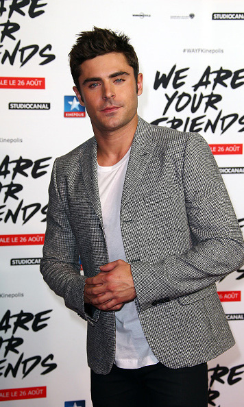 Aug 13: Zac Efron was a sight for sore eyes at the 'We Are Your Friends' premiere in Lille, France. 