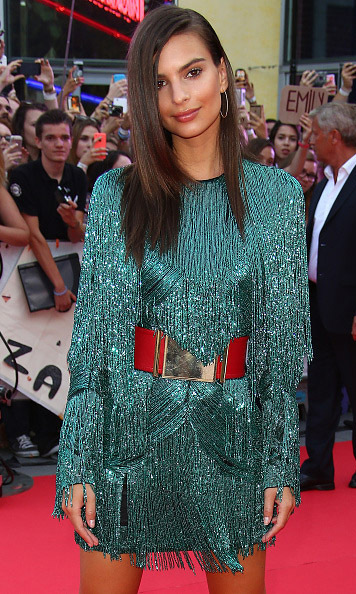 August 13: Emily Ratajkowski showed her star quality at the 'We Are Your Friends' premiere in Lille, France.