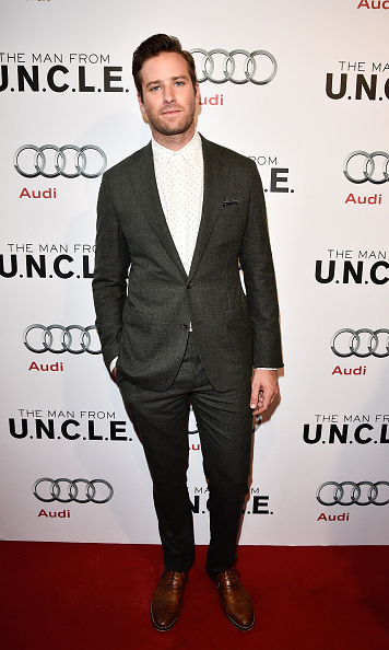 August 11: Armie Hammer was dapper during the 'The Man from U.N.C.L.E' premiere in Toronto.