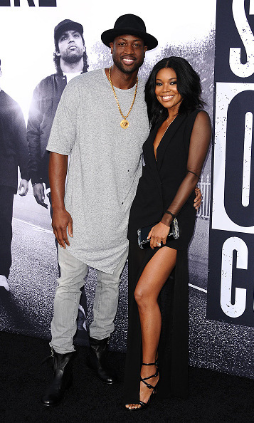 August 10: Gabrielle Union and Dwyane Wade were a picture perfect pair at the 'Straight Out of Compton'  premiere in L.A. 