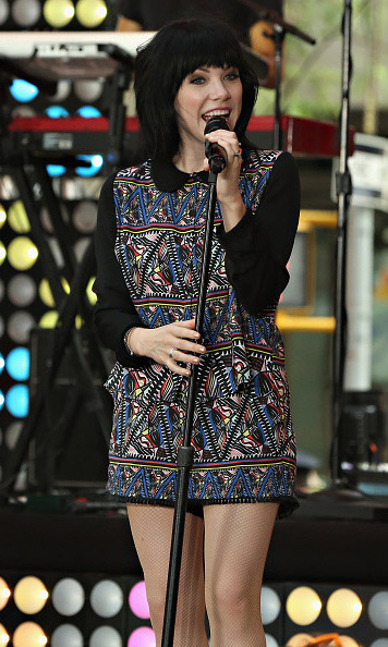 August 21: Carly Rae Jepsen rocked out during her performance on 'Today' in NYC.