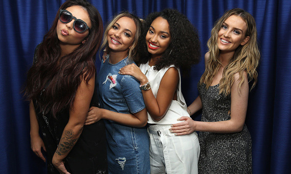 August 20: The ladies of Little Mix paid a visit to Sirius XM studios in New York City. 