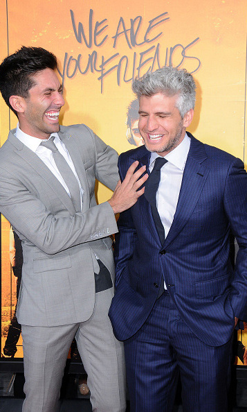 August 20: 'Catfish' host and BFF's Nev Schulman and Max Joseph were all laughs during the 'We Are Your Friends' red carpet in Hollywood. 