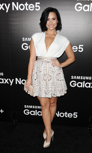August 18: Demi Lovato celebrated her birthday week during Samsung Galaxy's S6 Edge Plus and Note 5 Launch party in West Hollywood. 