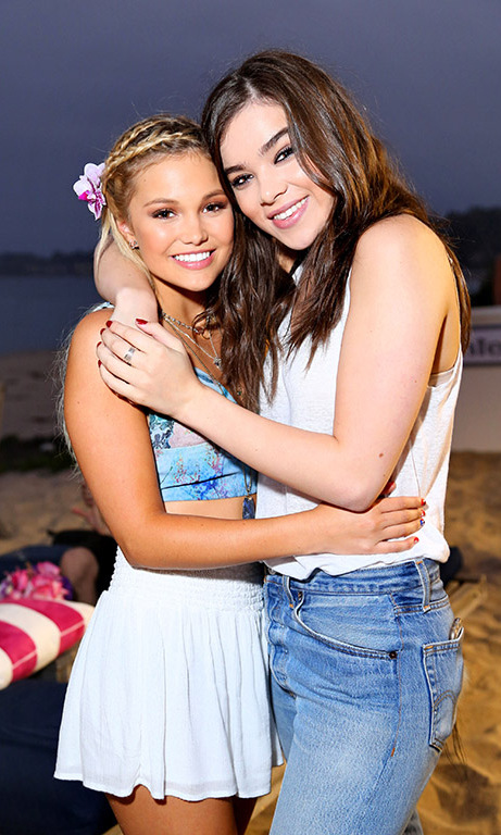 August 17: Olivia Holt celebrated her 18th birthday with Hailee Steinfeld during her party thrown my Nintendo in Malibu. 