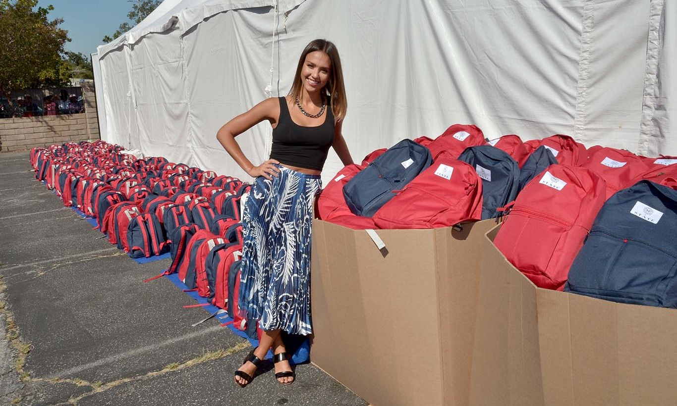 August 17: Jessica Alba and The Honest Company celebrated back to school with Head Start. 
