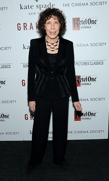August 18: Lily Tomlin dazzled at the Cinema Society premiere of her latest film 'Grandma' in NYC.