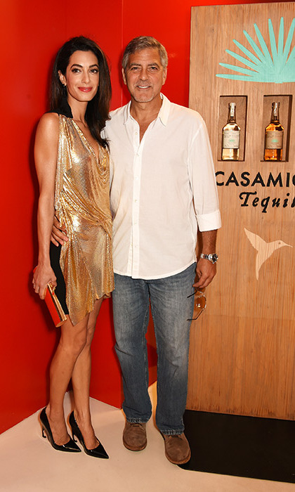 August 23: Amal and George Clooney looked loved up at the launch of Casamigos Tequila at Ushuaia Beach Hotel Ibiza.