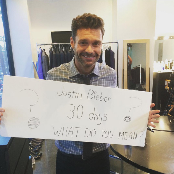 30 Days: Justin announced the songs title during his appearance on On Air with Ryan Seacrest. 