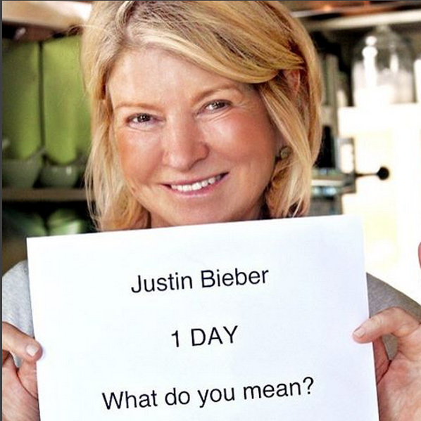 1 Day: Martha Stewart.