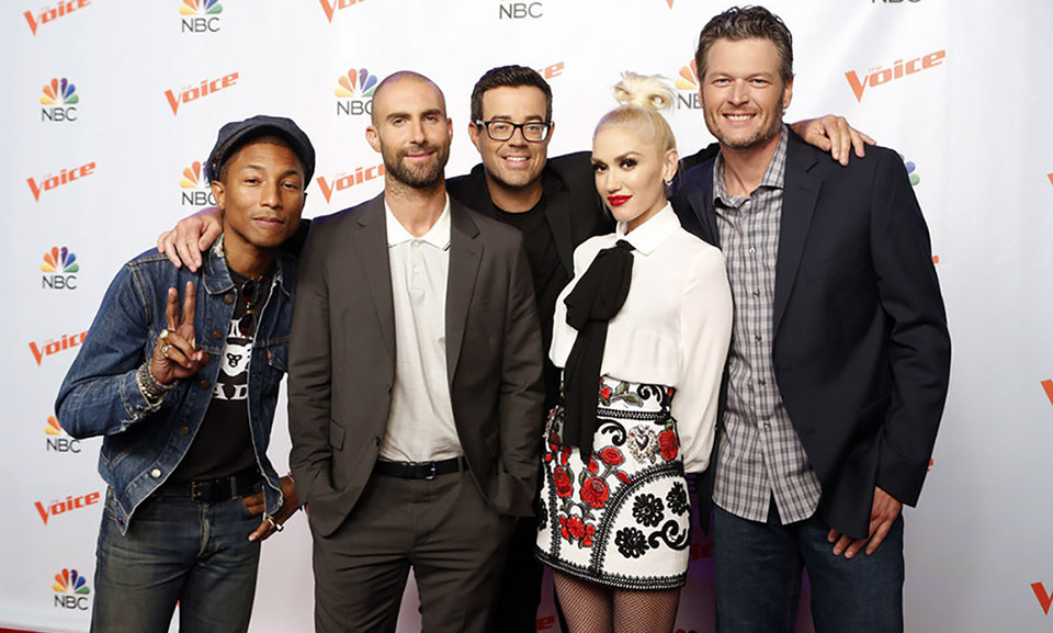 August 26: The host and judges of 'The Voice' (including newly single Blake Shelton and Gwen Stefani) geared up for season 9 during the press junket in Los Angeles.
