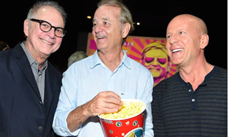 August 28: Director Barry Levinson, Bill Murray and Bruce Willis attended the special screening of 'Rock the Kasbah' in the Hamptons.