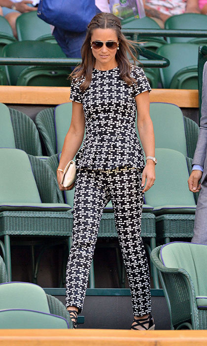 She takes fashion risks. Pippa is known for her perfectly preppy style, pastel colors and gentle floral prints. But then 31-year-old changed up her signature style as she stepped out at Wimbledon 2015.