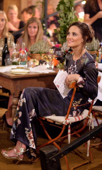 She mixes it up in a floral maxi dress. Pippa was the stand out star at the Vault Couture All Saints Autumn Dinner in 2011.