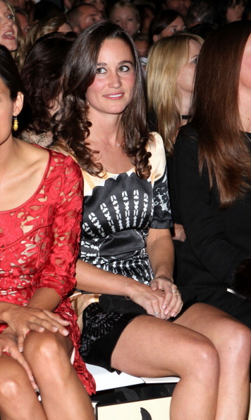 Pippa sat front row at London Fashion Week.