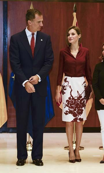 September 9: Spain's King Felipe VI and Queen Letizia attended an official lunch at the Constitutional Court in Madrid, Spain. 