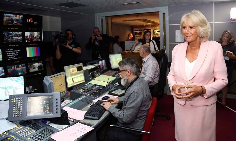 September 9: Camilla visited the vision mixing room at ITV studios in London.