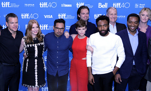 September 11: The stars of the film 'The Martian' were all smiles during press for the movie at the Toronto International Film Festival. 
