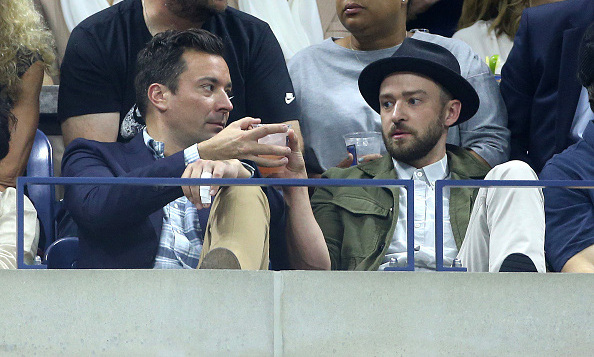 "September 9: Jimmy Fallon and Justin Timberlake kept the crowds' attention during the US Open when they danced to ""Single Ladies."" 