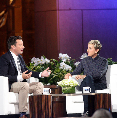 September 8: Ellen DeGeneres had Jimmy Fallon on one of her shows from the Big Apple.  