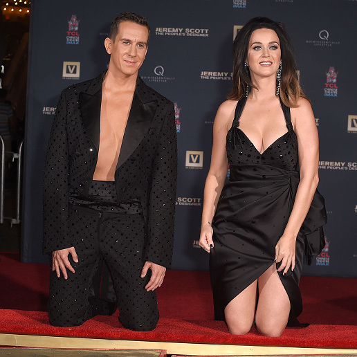 September 8: Katy Perry and Jeremy Scott were a stylish duo during the premiere of 'Jeremy Scott: The People's Designer' where they also had their hand print ceremony in Hollywood.  