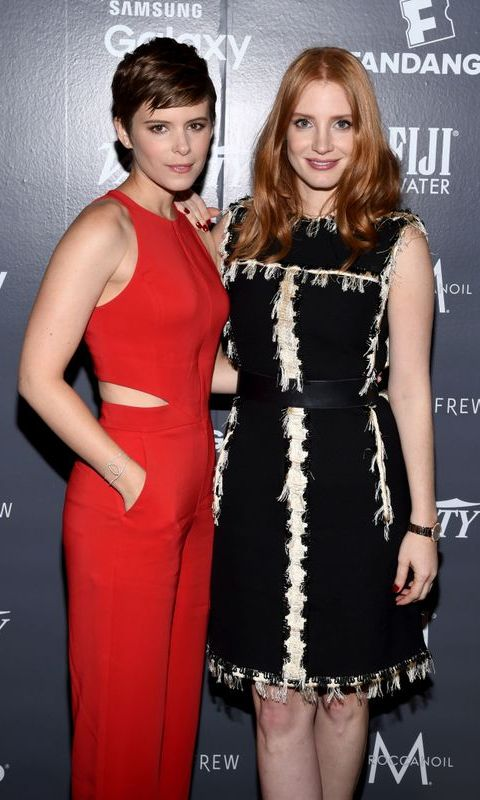September 11: Jessica Chastain and Kate Mara stunned at the Variety Fandango Studio powered by Samsung Galaxy at Holt Renfrew during the 2015 Toronto International Film Festival.