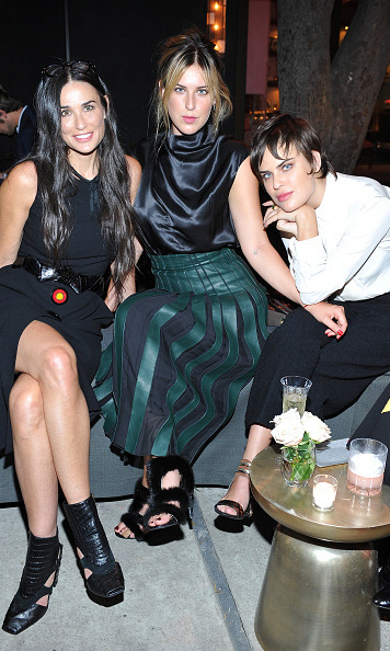 September 9: Demi Moore hung with her two daughters  Scout and Tallulah Willis at the 100 years of Ferragamo celebration hosted by the designer's family and Vogue's Lisa Love at Eric Buterbaugh Floral in West Hollywood.