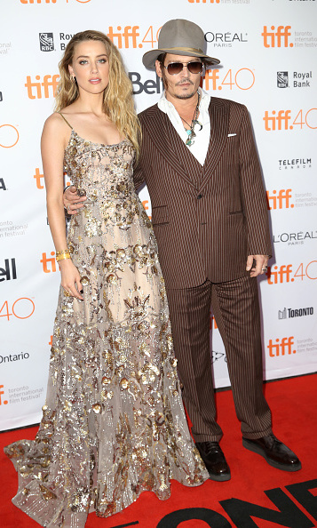 September 12: Johnny Depp and Amber Heard stepped out in Toronto for the 'Danish Girl' premiere.