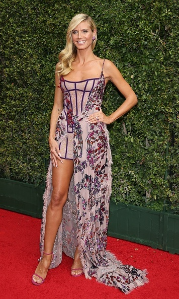 September 12: Heidi Klum made her way back to L.A. for the Creative Arts Emmy Awards.