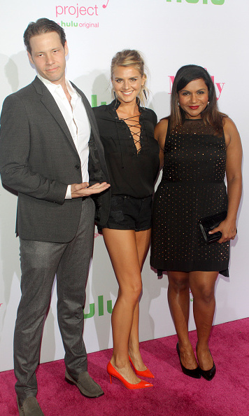 September 12: Mindy stepped off the red carpet and onto the pink one at the Hulu premiere of 'The Mindy Project' with  Ike Barinholtz and Eliza Coupe in L.A.