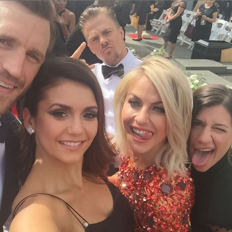 September 12: Creative Arts Emmy selfie break! Nina Dobrev snapped this photo with Brooks Laich, Julianne and Derek Hough and Kristy Sowin.