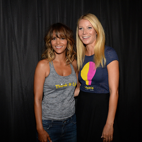 September 11: Gwyneth also caught up with Halle Berry at the Think It Up fundraiser in Santa Monica.