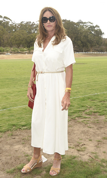 September 12: Caitlyn Jenner set her own trend of wearing white after Labor Day at the Safety Harbor Kids Polo Classic Fundraiser at Will Rogers State Historic Park in Pacific Palisades, California.