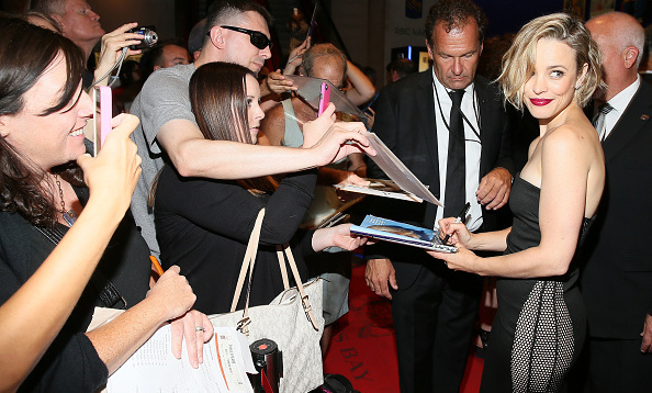 September 11: Rachel McAdams signed autographs at the photo call for 'Everything Will Be Fine' during TIFF.