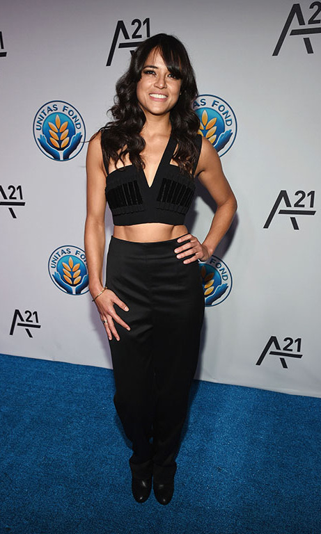 "September 16: Michelle Rodriguez shared her passion for the cause with HELLO!: ""I'm here to fight the cause for people who need to be free,"" during the UNITAS Against Sex Trafficking gala in New York City. 