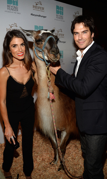 September 18: Now, that's how you take a photo! Nikki Reed and Ian Somerhalder posed with a special friend during Heifer International's 4th Annual Beyond Hunger Gala in Beverly Hills, which works to end hunger and poverty while caring for the Earth.