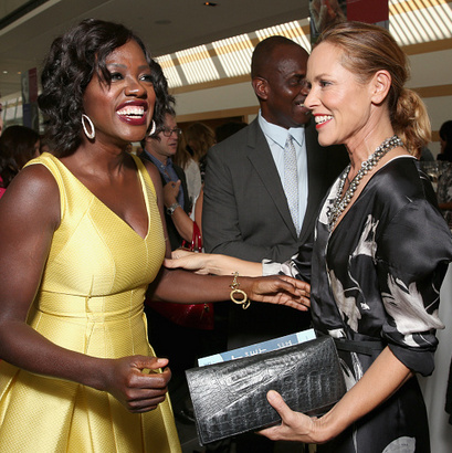 September 19: Viola Davis and Maria Bello caught up during the 4th Annual Women Making History Brunch presented by the National Women's History Museum and Glamour Magazine at Skirball Cultural Center in L.A.