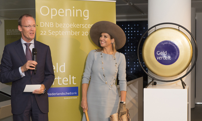 Queen Maxima of The Netherlands opened the new visitor center of the Netherlands Bank in Amasterdam.