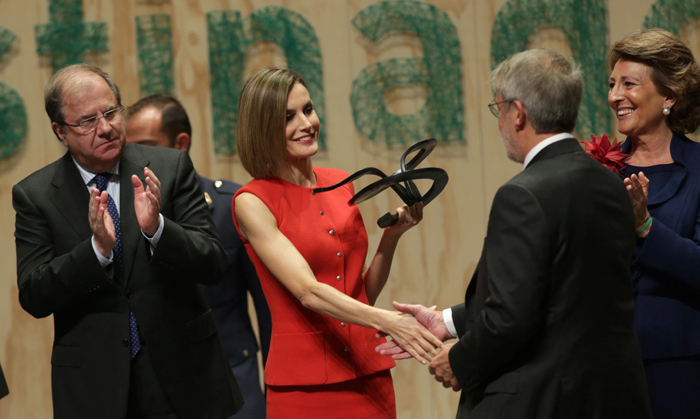 Queen Letizia of Spain attended an official event of the Spanish Association Against Cancer.