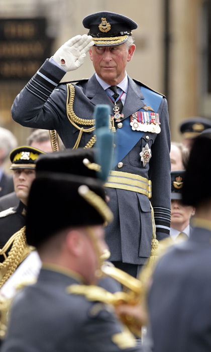 Prince Charles attended the Battle of Britain service and flypast in unifrom.