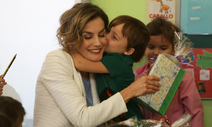 Queen Letizia of Spain in Palencia during the opening of the school year 2015.