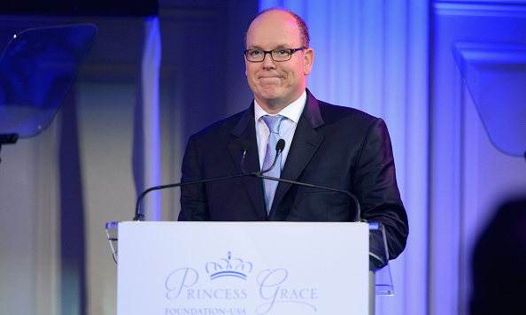 Prince Albert made his way to Manhattan on behalf of the Princess Grace Foundation where he presented talented artists including 'Hamilton' on Broadway's Leslie Odom Jr. with awards. 