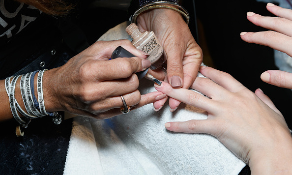Reflecting a huge trend for spring-summer 2016, manicurists kept the nails simple with Morgan Taylor for the Gabriele Colangelo show during Milan Fashion Week.
